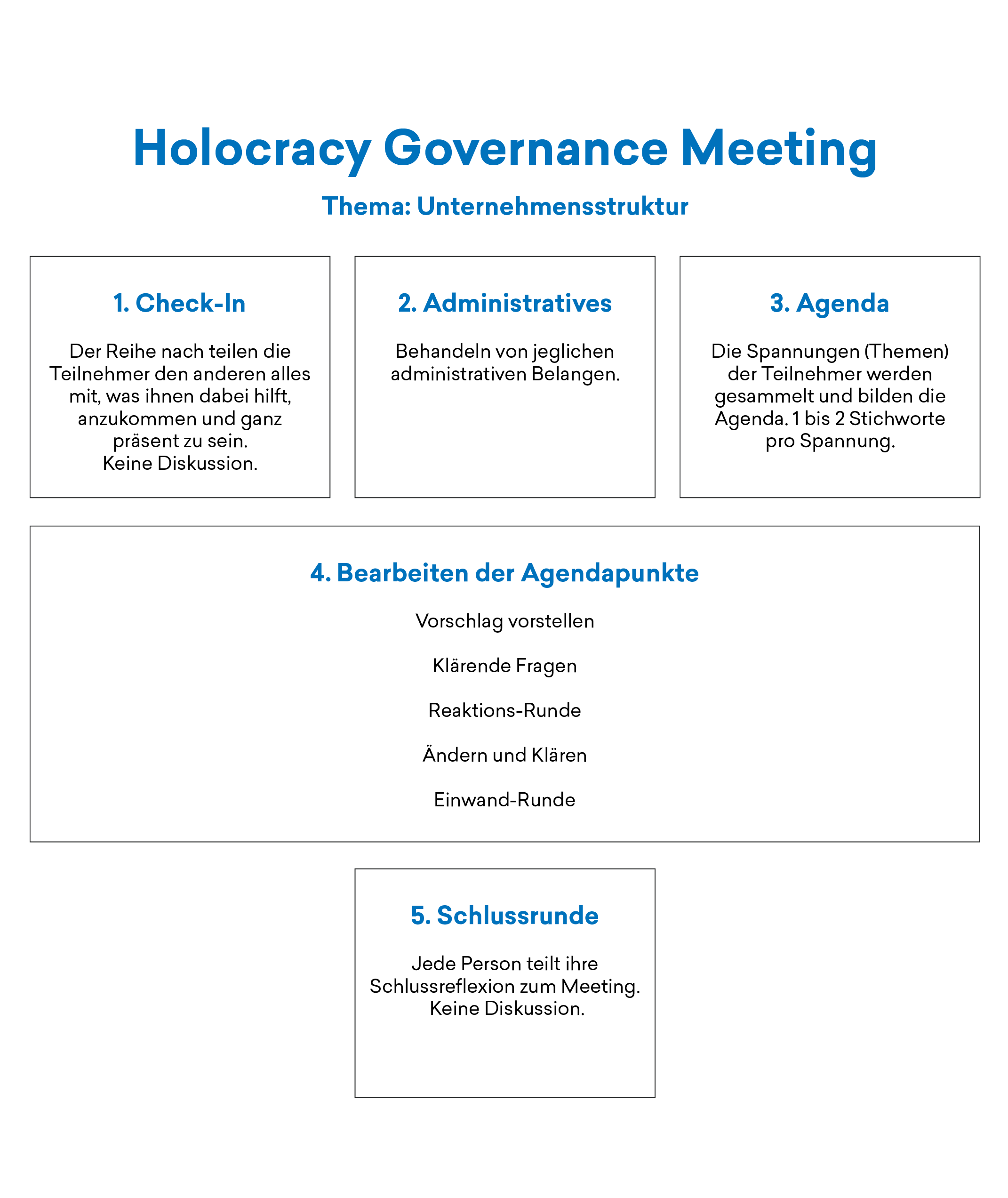 HOLACRACY GOVERNANCE MEETING